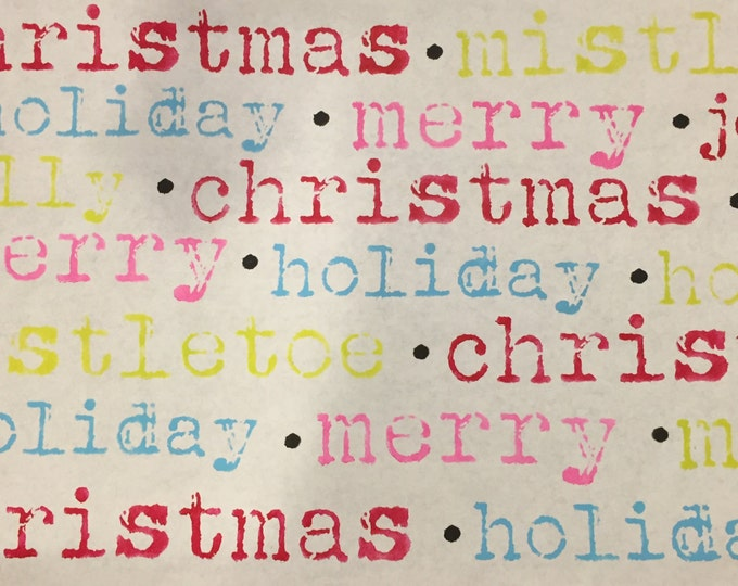 Featured listing image: Christmas Words Stencil Set -Typwriter Style