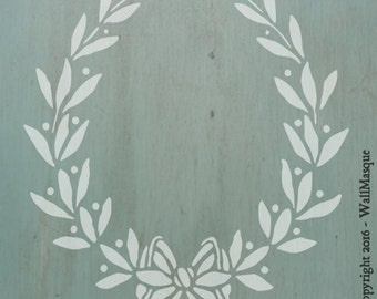 Farmhouse Laurel Stencil