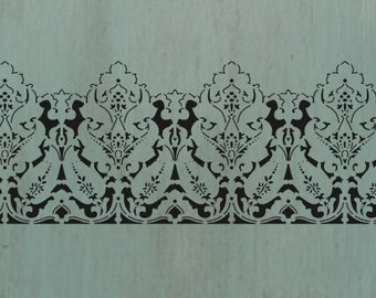 Lace Border Stencil - (VS-vintageborder1) - An elegant lace border design.