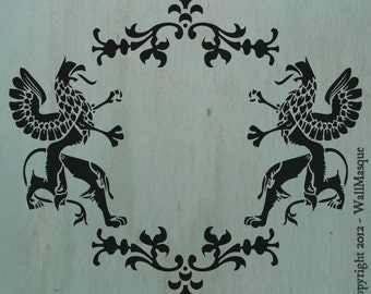 """Griffins Stencil (11.9"""" x 10.7"""") - A neat stencil with a lot of potential uses."""