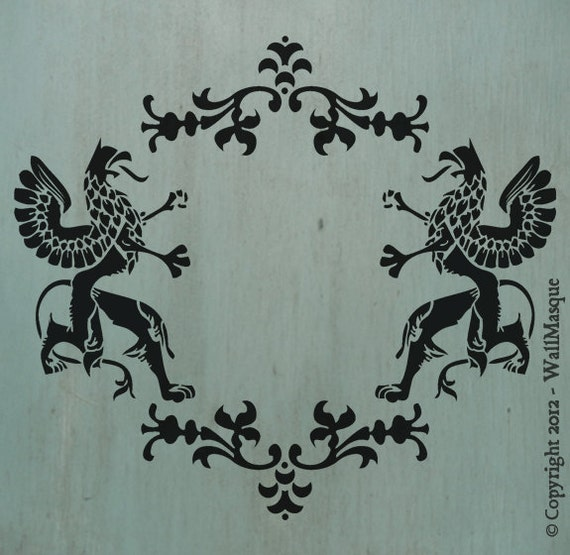 "Griffins Stencil (11.9"" x 10.7"") - A neat stencil with a lot of potential uses."