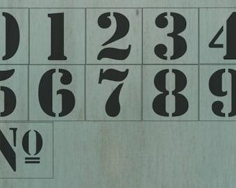 3.5 inch Number Stencil Set