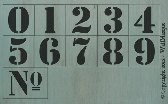 1 inch Number Stencil Set