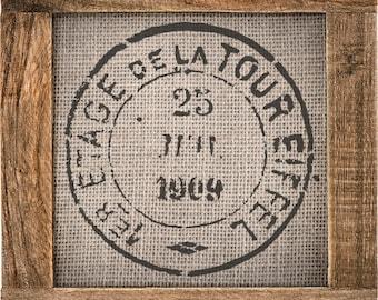 Eiffel Stamp Stencil