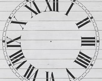 "Refined Clock Stencil (23"" DIAMETER)"