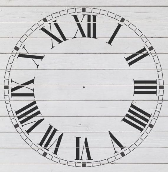 "Refined Clock Stencil (23"" DIAMETER)"