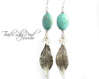 Blue Bohemian Jewelry - Boho Chic Earrings - Boho Jewelry - Bohemian Earrings - Blue Boho Earrings for Women - Fall Autumn Jewelry