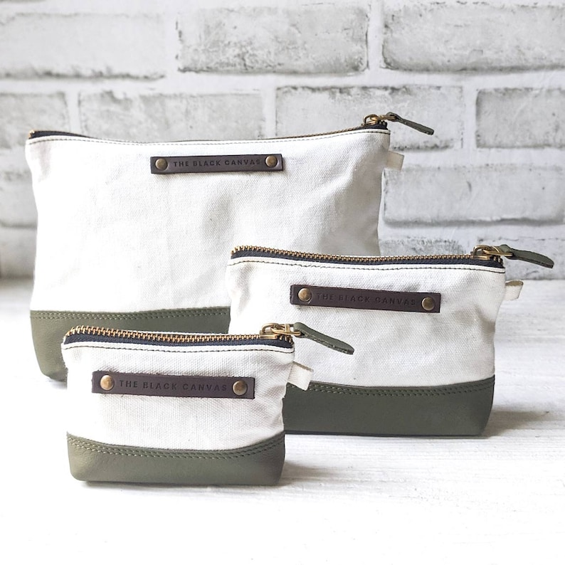 White Ranger Leather /& Canvas Pouch