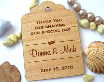 Wedding Tags, Wooden Tags, Wedding Favor Tags, Gift Tags, Hang Tags, Wood tags, Favour tags, Thank you favor tags, Thank you tags