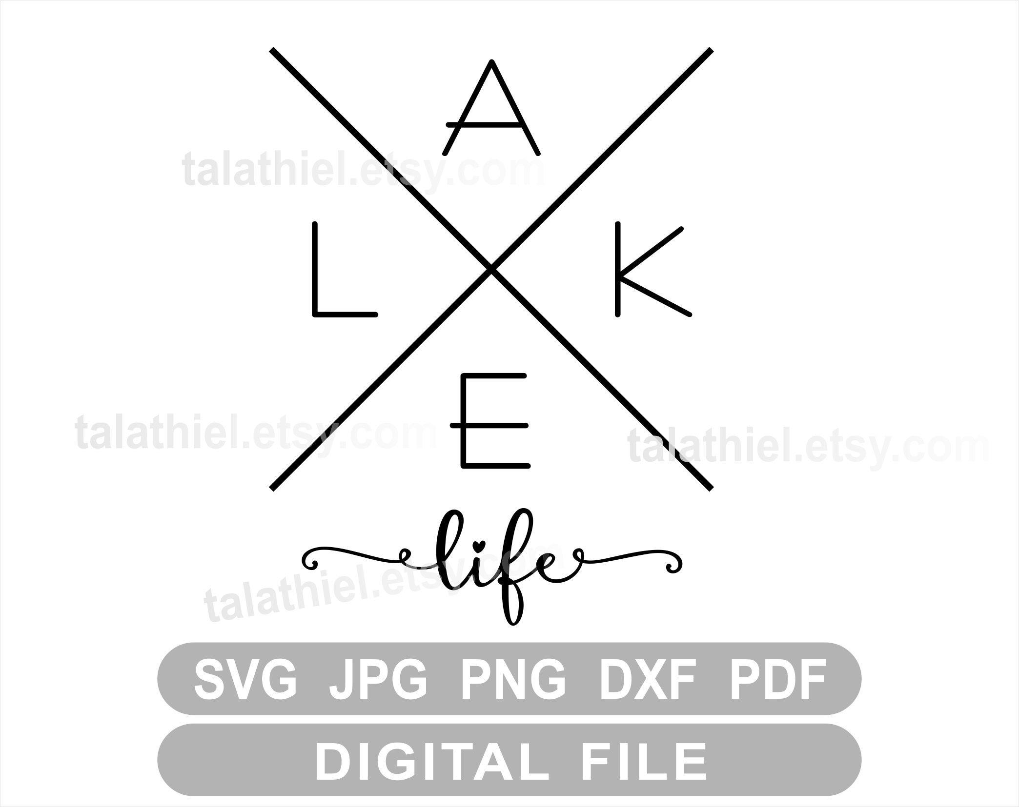 silhouette Lake saying svg We/'re on Lake Time lake life I/'m on Lake Time customizable brother dxf eps pdf png svg files for cricut