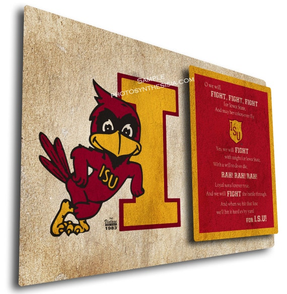 18x12 Canvas Fight Song Iowa State Cyclones