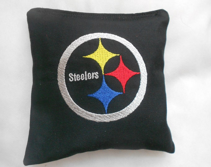 Embroidered Steelers Corn hole Bags