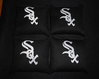 Embroidered Sox Corn hole Bags