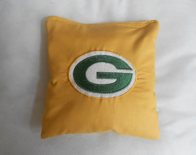 Embroidered Green Bay Corn hole Bags
