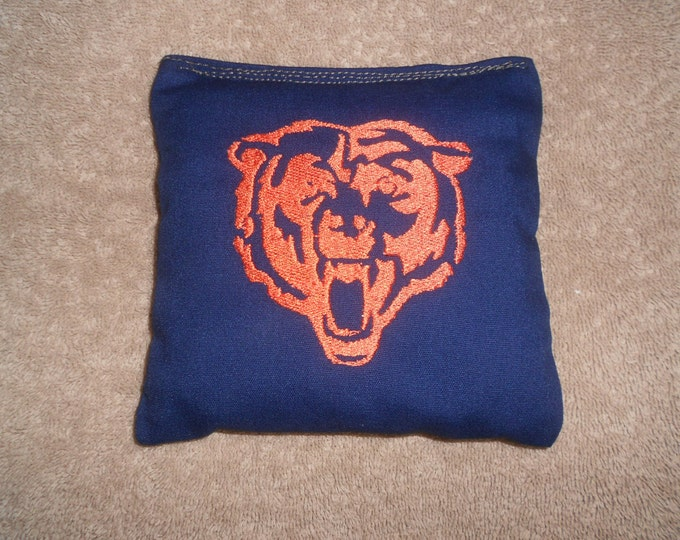 Chicago Bears Embroidered Face Corn Hole Bags