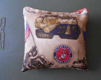 Tan Marines Corn hole Bags