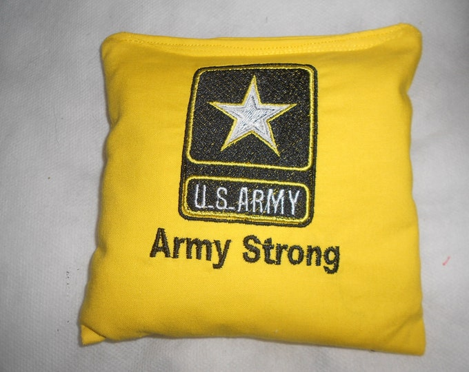 Embroidered Army  Corn hole Bags