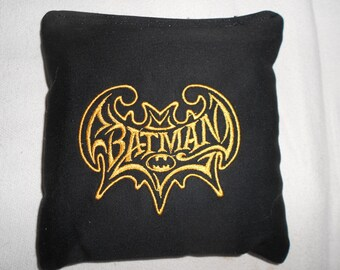 Black Batman Corn hole Bags