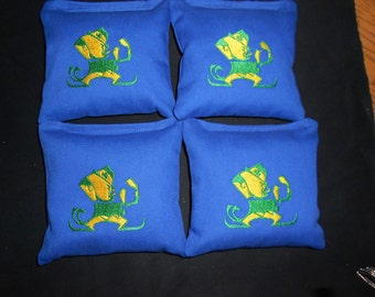 Embroidered Irish Corn hole Bags