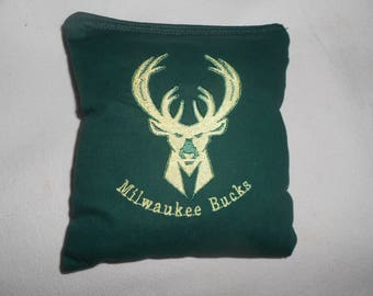 Milwaukee Bucks  Embroidered  Corn hole Bags
