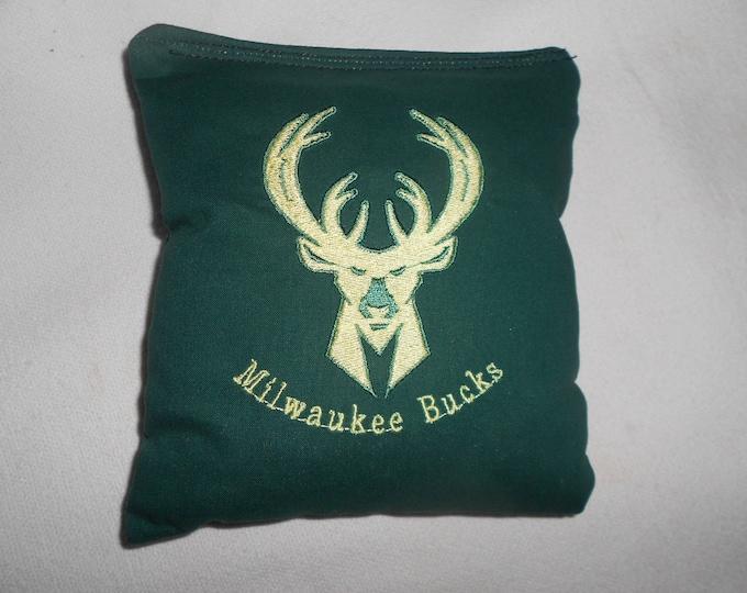 Milwaukee Bucks  Embroidered  Corn hole Bags