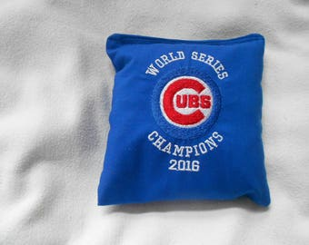 Embroidered Blue World Series Champions Chicago Cubs Corn hole Bags