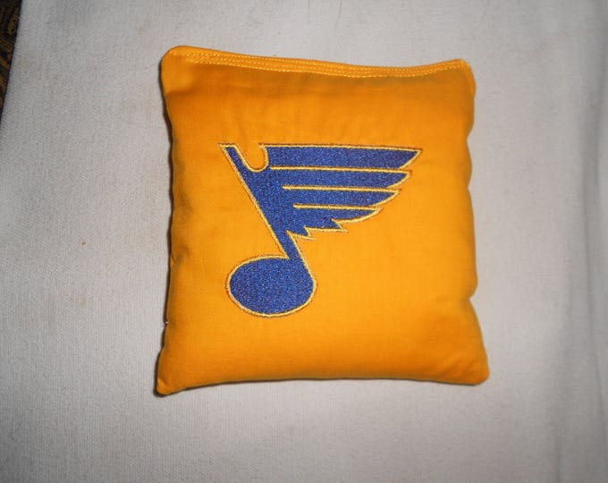 Embroidered St Louis Blues  Hockey Corn hole Bags