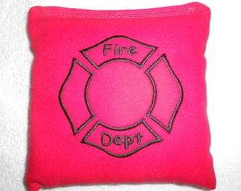 Embroidered Fireman Corn hole Bags