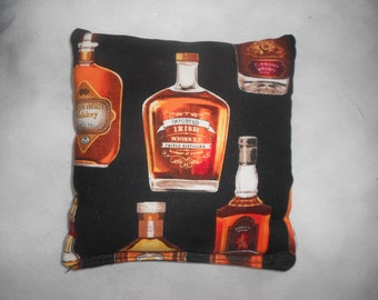 Bottles of Whiskey  Corn hole Bags