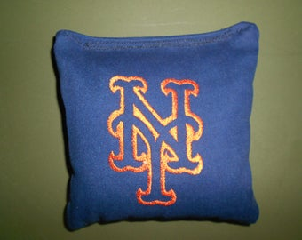 Embroidered New York Mets Corn hole Bags