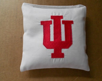 Indiana University Embroidered  Corn hole Bags