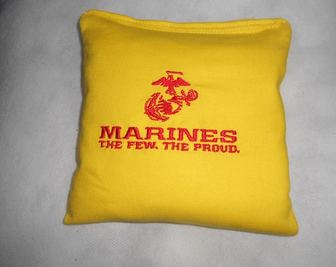 Embroidered Marines  Corn hole Bags