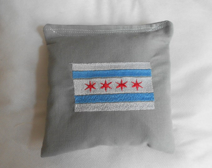 Embroidered Chicago Flag Corn hole Bags