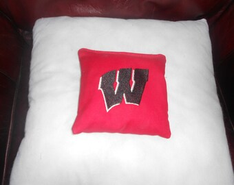 Wisconsin Black  Embroidered  Corn hole Bags