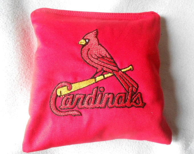 St Louis Cardinals  Embroidered  Corn hole Bags