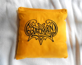 Gold Batman Embroidered Corn Hole Bags