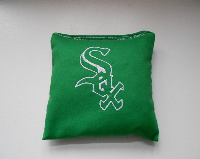 Green Sox  Corn hole Bags