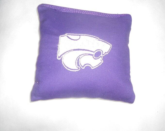 Kansas State  Embroidered  Corn hole Bags