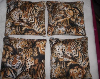 Jungle Cats Corn  hole Bags