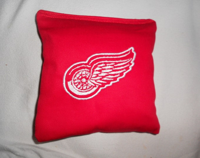 Red Wings Embroidered  Corn hole Bags