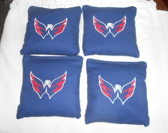 Set of 4 Washington Capitals  Cornhole bags