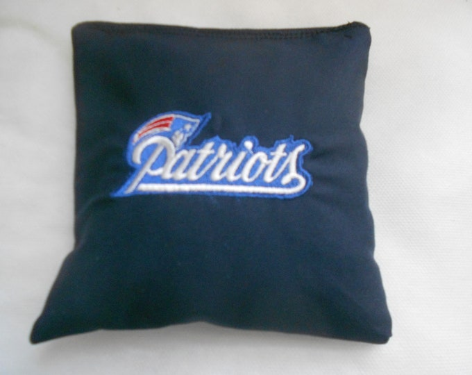 Embroidered New England Patriots  Corn hole Bags