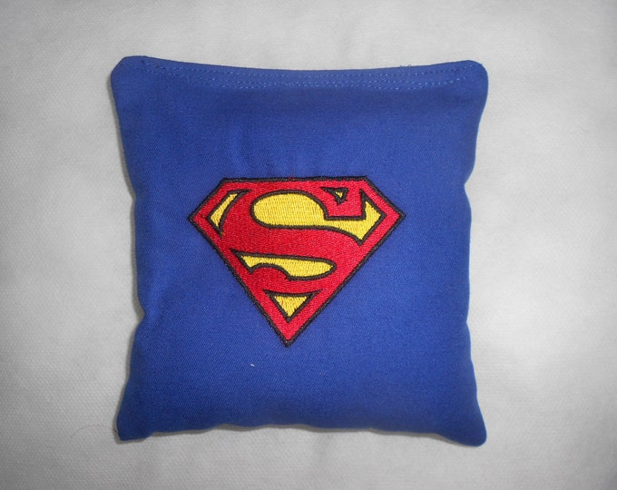 Superman  Embroidered  Corn hole Bags