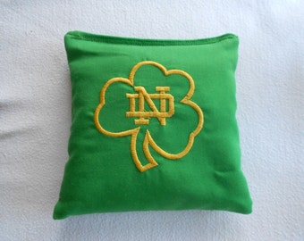 Embroidered Shamrock Corn hole Bags