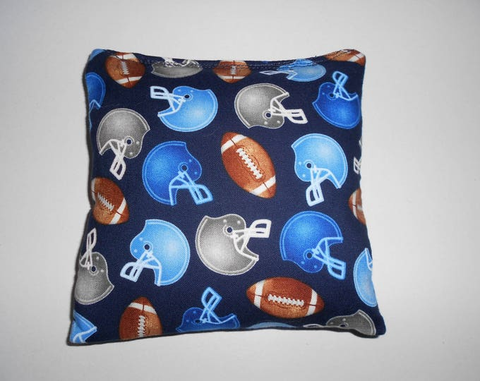 Blue Footballs Corn hole Bags
