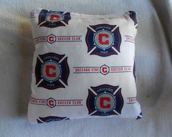 Chicago Fire Corn hole Bags