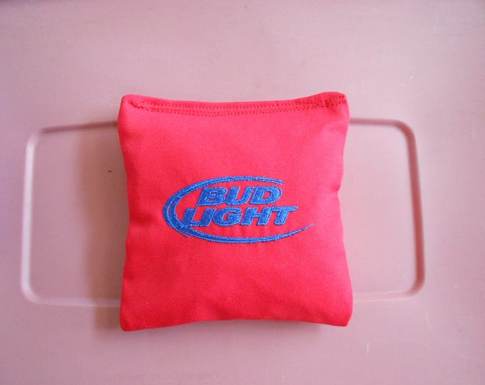 Red Bud Lite  Embroidered  Corn hole Bags