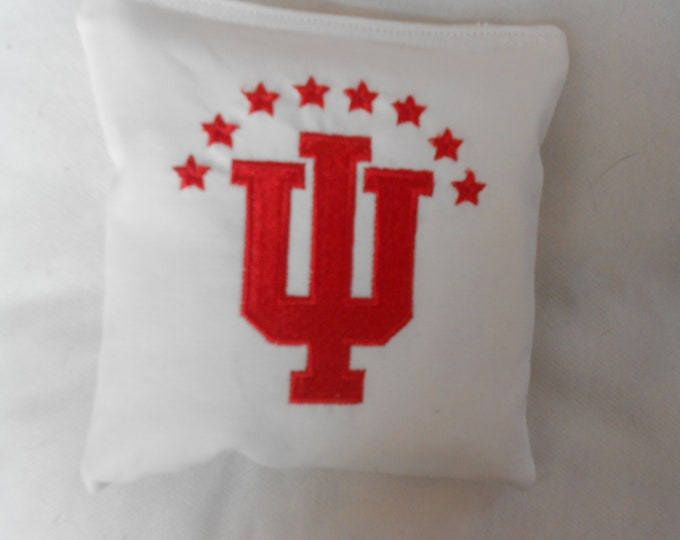 Embroidered Indiana Corn hole Bags