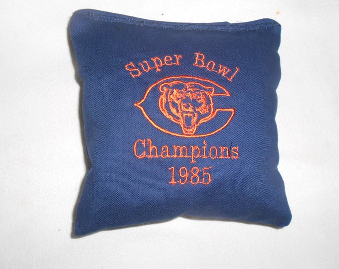 Chicago Bears Super Bowl 1985l  Embroidered  Corn hole Bags
