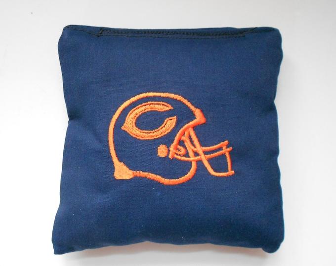SALE Blue Helmet Embroidered  Corn hole Bags